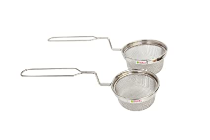 Hazel Stainless Steel Deep Fryer Combo Set of 2 Medium, Silver