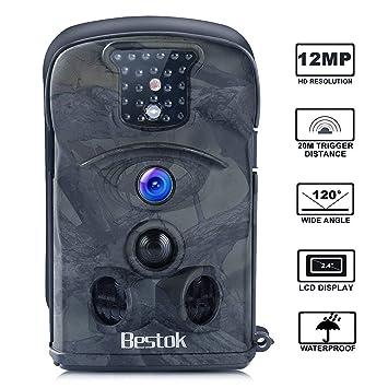 Bestok Cámara de Caza 12MP 1080P Cámara de Vigilancia Trail Cámara (Verde Oscuro)