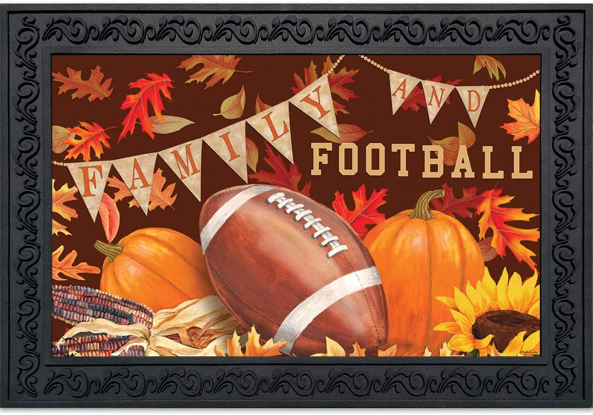 Briarwood Lane Family Football Fall Doormat Sports Indoor Outdoor 18 x 30
