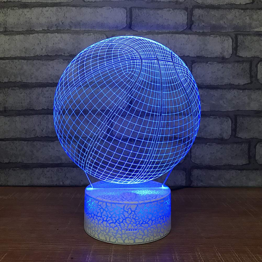Togethluer Creative 3D 7 Color LED Touch Night Light,Bedroom Desk Lamp Home Decor Gift by Togethluer (Image #3)