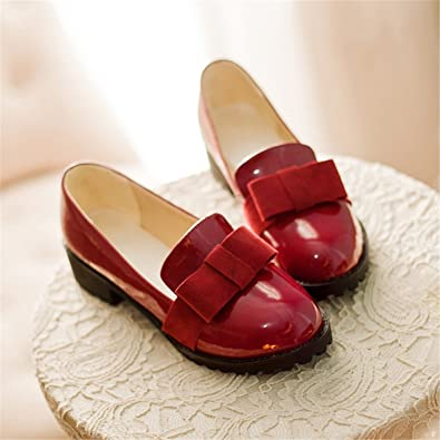 62c1660d7 Robert Reyna Nice Women Solid Sweet Butterfly-Knot Shallow Pumps Round Toes  Big Size Girls