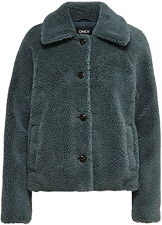 Only Onlemily Teddy Jacket Otw Noos Chaqueta para Mujer