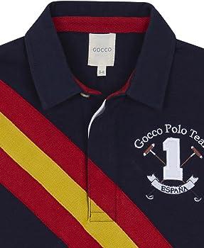 Gocco Polo Bandera España, Azul (Marino A4), 5-6 años para Niños ...
