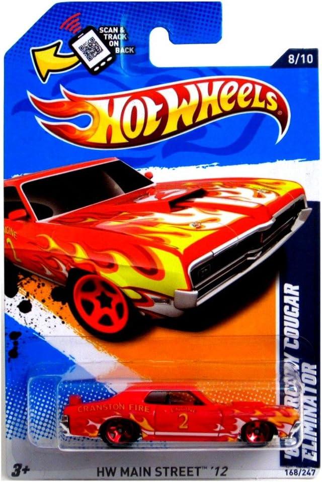 Hot Wheels 2012 Main Street 69 Mercury Cougar Eliminator Red Card 168