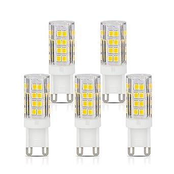CRLight G9 Base 5W LED Light Bulb, 3000K Soft White 400LM ...