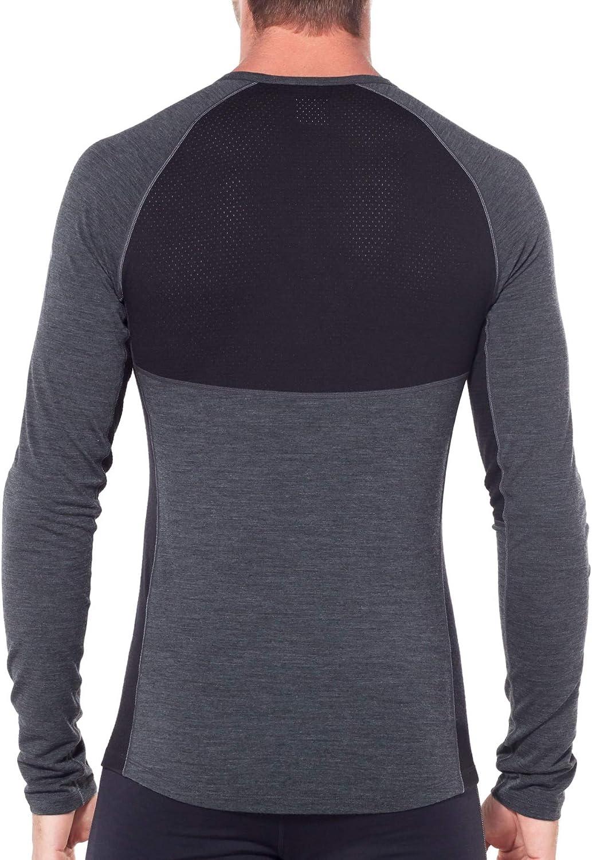 Icebreaker 200 Zone LS Crew Shirt Men jet heather/black 2019 Underwear surf/midnight navy