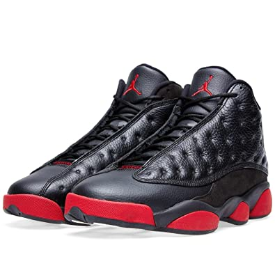 Air Jordan 13 Retro Men\u0027s Shoes Black/Gym Red-Black 414571-003 (
