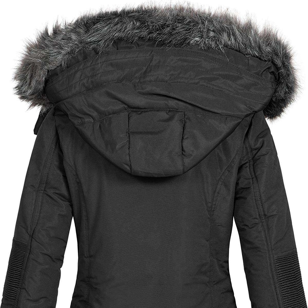 Geographical Norway Damen Jacke Winterparka Coracle//Coraly XL-Fellkapuze