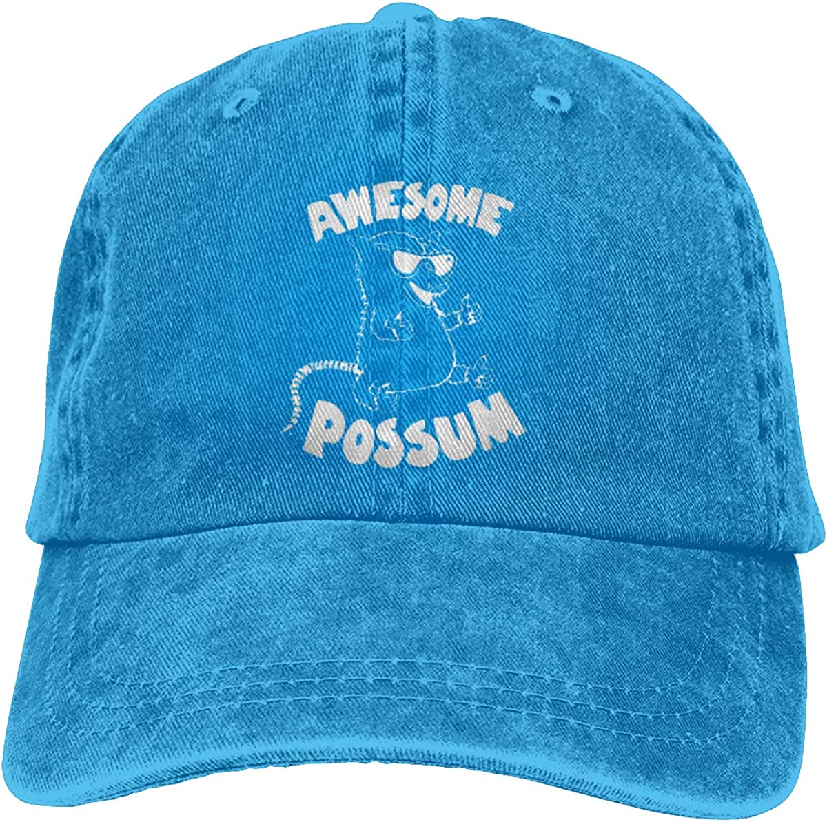 Awesome Possum Unisex Baseball Cap Cotton Denim Cool Adjustable Sun Hat for Men Women Youth