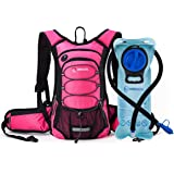 Miracol Hydration Backpack with 2L Water Bladder - Thermal Insulation Pack and Flow Tube Keeps Liquid Cool up to 4 Hours – Multiple Storage Compartment – Best for Hiking, Running, Cycling and more