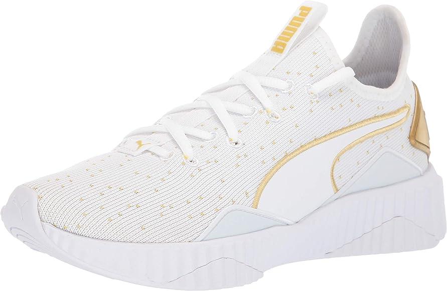 PUMA Women's DEFY Sneaker White-Gold