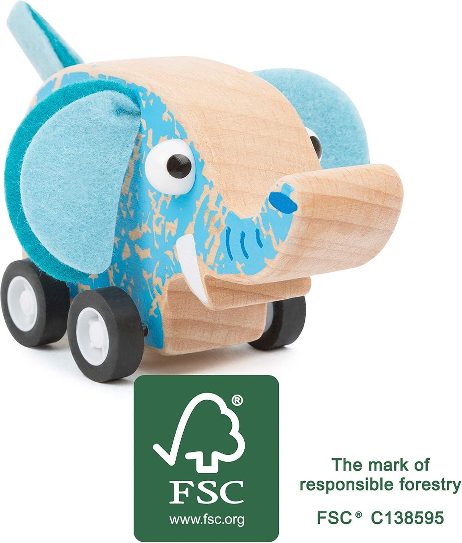 small foot R/ückzieh-Rennauto Blau FSC 100/%