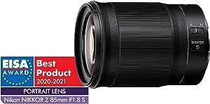 Nikon Nikkor Z 85mm f/1.8 S Lens, Black