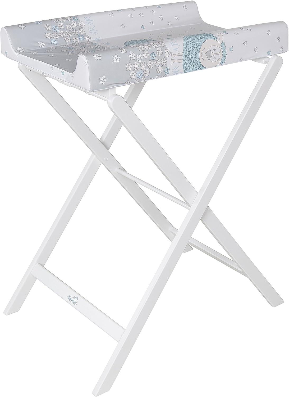 GEUTHER Table à Langer Pliable Trixi Fleur Blanc