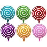 """Together&117 12 pcs 18"""" Sweet Candy Balloons, Round Lollipop Balloon Birthday Wedding Party Balloons"""