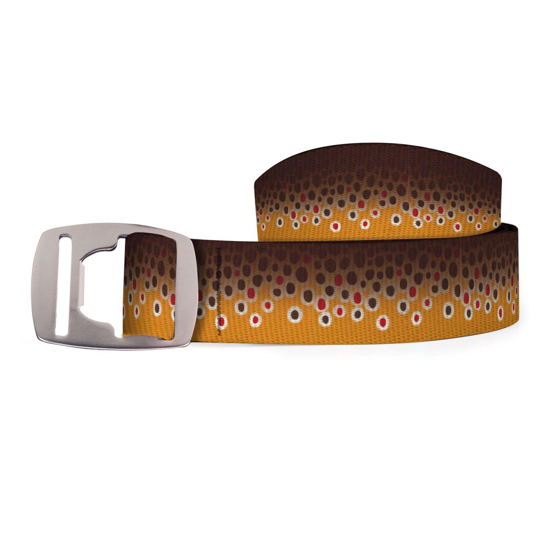 Croakies Artisan 2 Belt with Bottle Opener Buckle Rainbow Trout Fish Skin 42 BA2B0332M