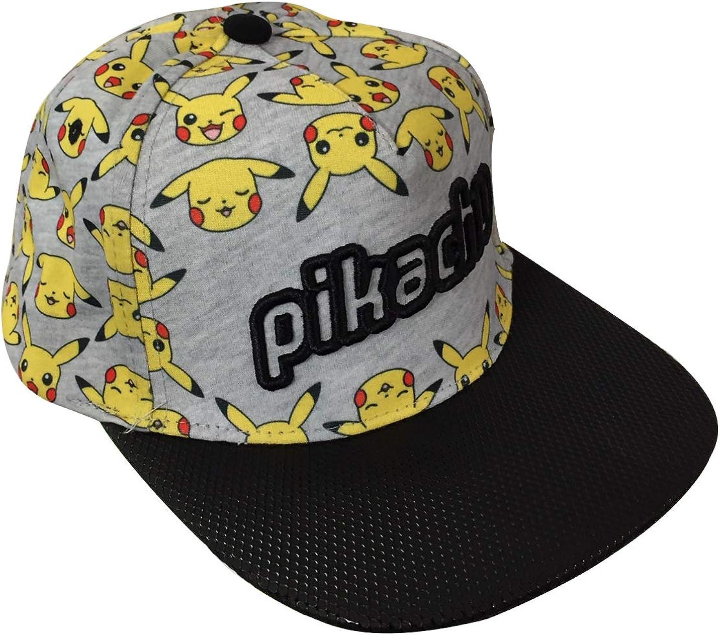 Gotta Catch em All Pokemon Pikachu Faces Kids Snapback Baseball Cap Hat