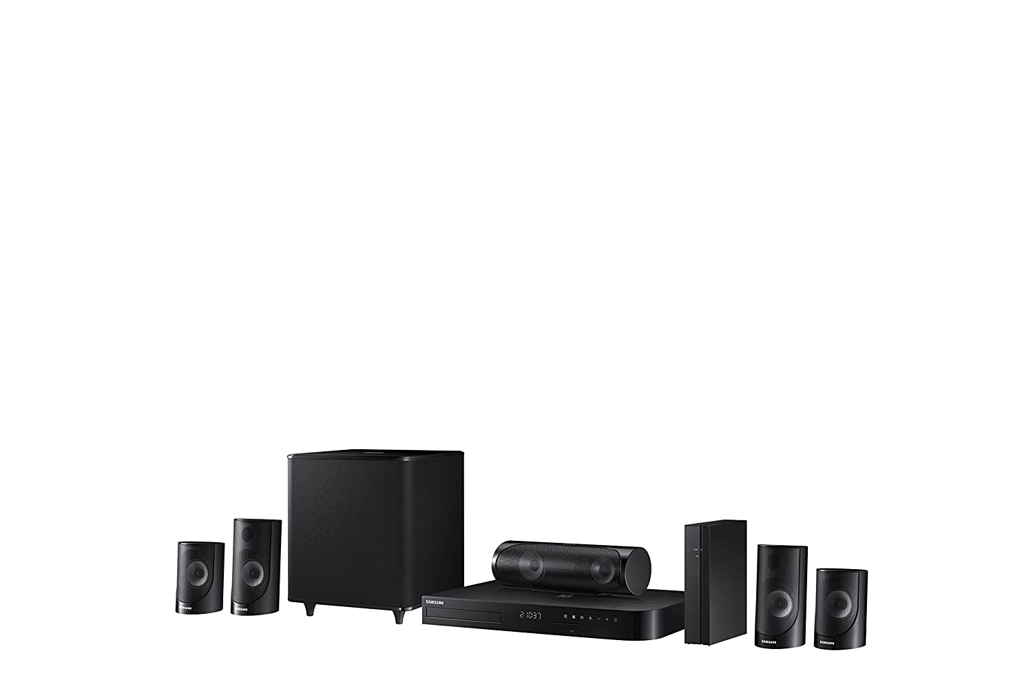 Samsung Ht J5500w 51 Channel 1000 Watt 3d Blu Ray Home How To Hook Up Surround Sound All About Electronics Theater System 2015 Model