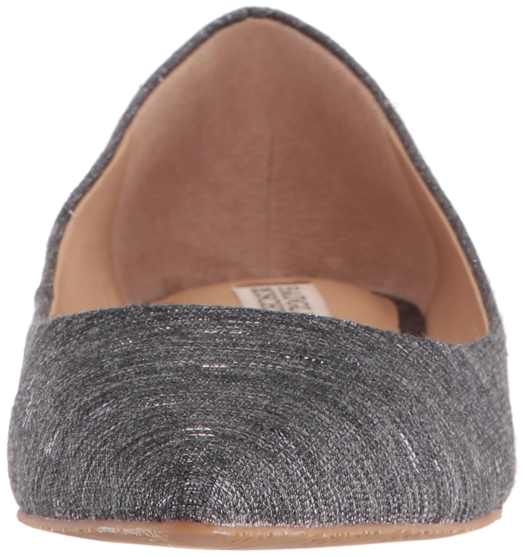 Badgley Mischka Women's Guardian Pointed Toe Flat B01LXIGKOI 8 B(M) US|Pewter