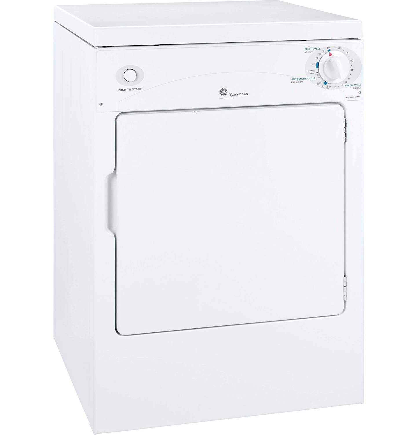 """B0011YFL58 GE DSKP333ECWW Spacemaker 24"""" Portable Electric Dryer with 3.6 Cubic. Ft. Capacity 71rg7v0J6WL._SL1500_"""