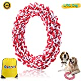 L/XL Dog Rope Toys, 100% Cotton Indestructible Big Dog Chew Toys for Large Dogs Aggressive Chewers,Puppy Training Toy for 100Lbs Large Breeds