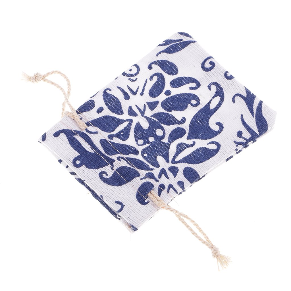 8 x 10 cm Azul Sharplace 10x Bosla de Almacenaje Paquete de Regalo Hecho de Lino Varios Tama/ños Colores para Selecci/ón