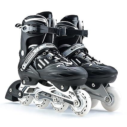 Sunkini Zapatos de patinaje de niños profesionales unisex Patines de ruedas de una sola línea Zapatos