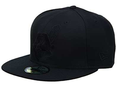 942171fea54 Image Unavailable. Image not available for. Color  New Era Cleveland  Indians Fitted Hat Mens Style  ...