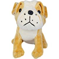 Cute Dog Stuffed Toy for Kids, White & Yellow (6 Inch)
