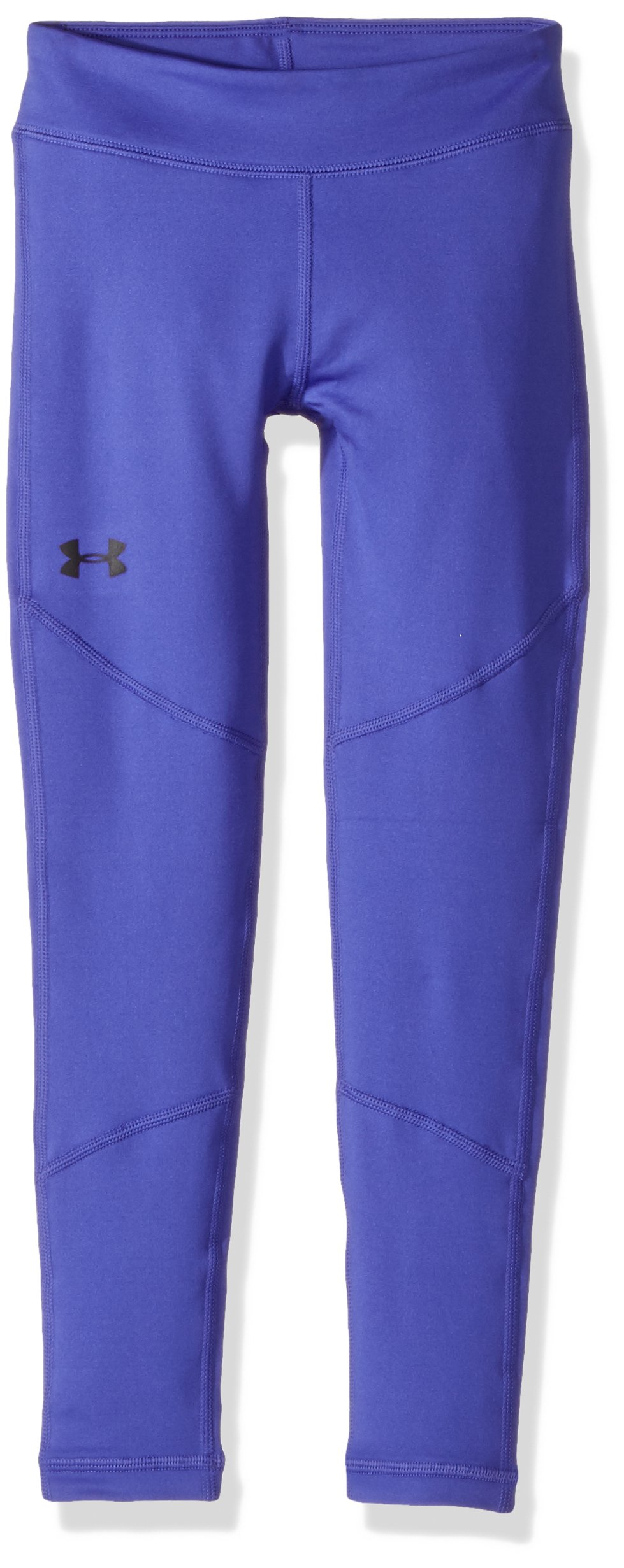 Under Armour Girls' ColdGear Leggings,Constellation Purple (530)/Black, Youth Small