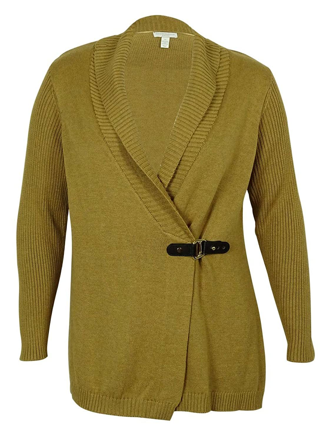 Charter Club Buckle Detailed Cardigan-Sweater