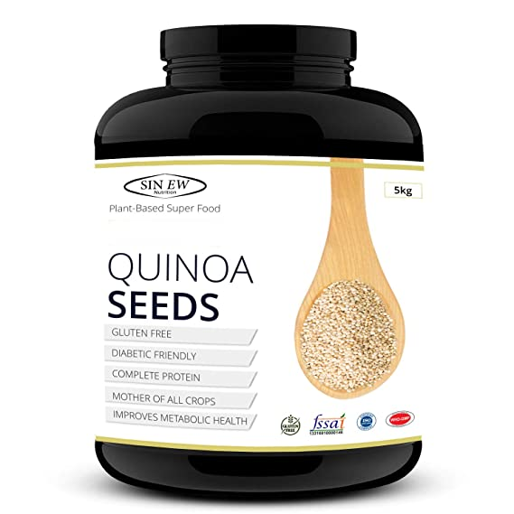 Sinew Nutrition Gluten Free White Quinoa Seeds 5 Kg Amazon In Grocery Gourmet Foods