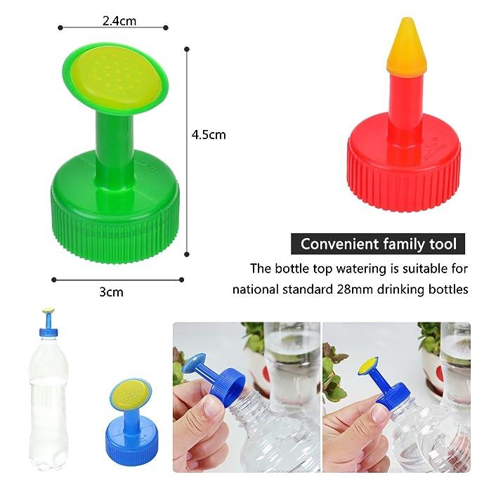 TankerStreet 6 PCS Botella Superior de Riego Parte Superior de Botella para Regadera Plástico Planta de Riego Spike Sprinkler para Botellas de 28 mm Semilla ...