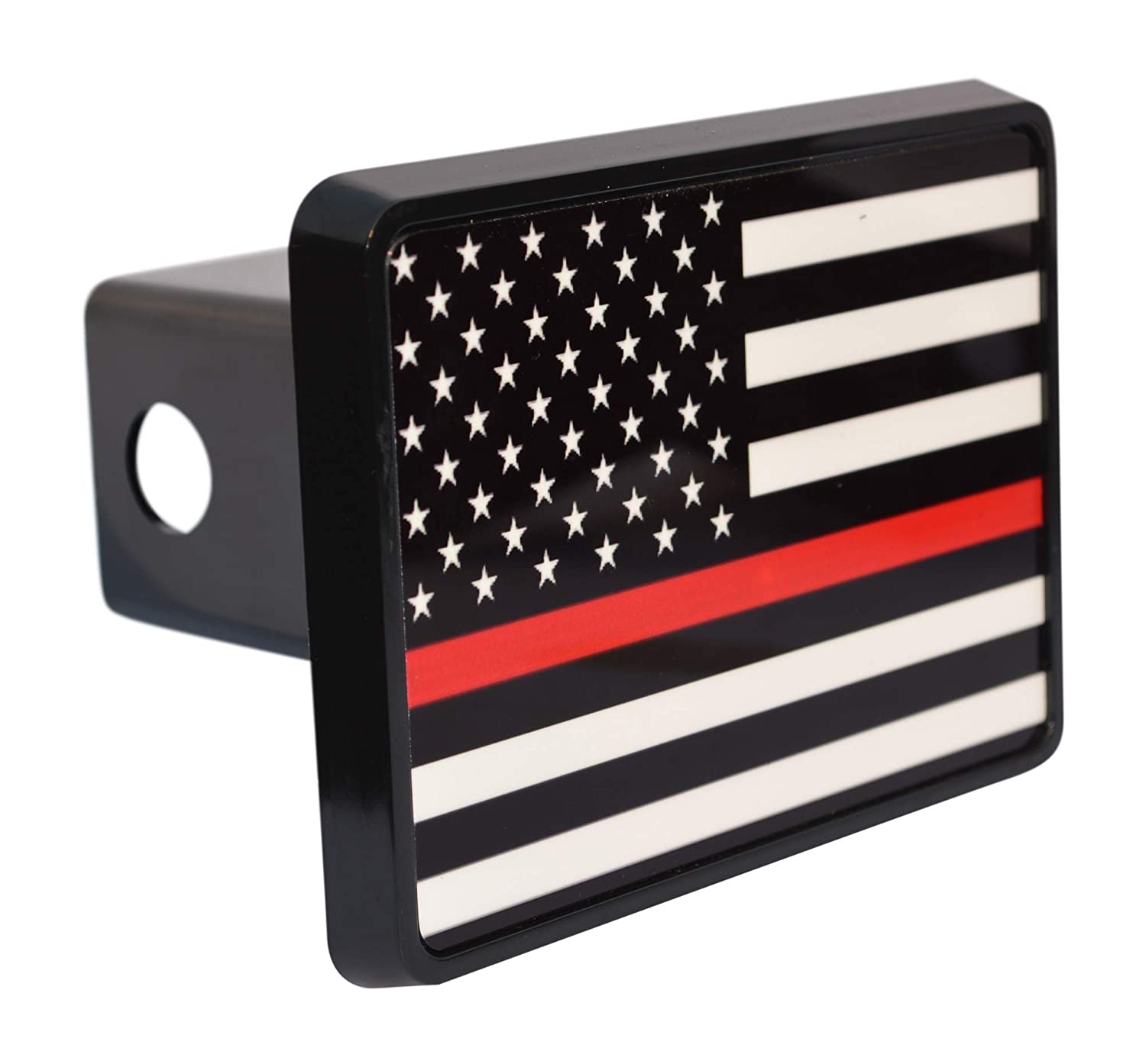 Rogue River Tactical Thin Red Line Flag Trailer Hitch Cover Plug US Firefighter Fire Fighter Truck Department FD VV756