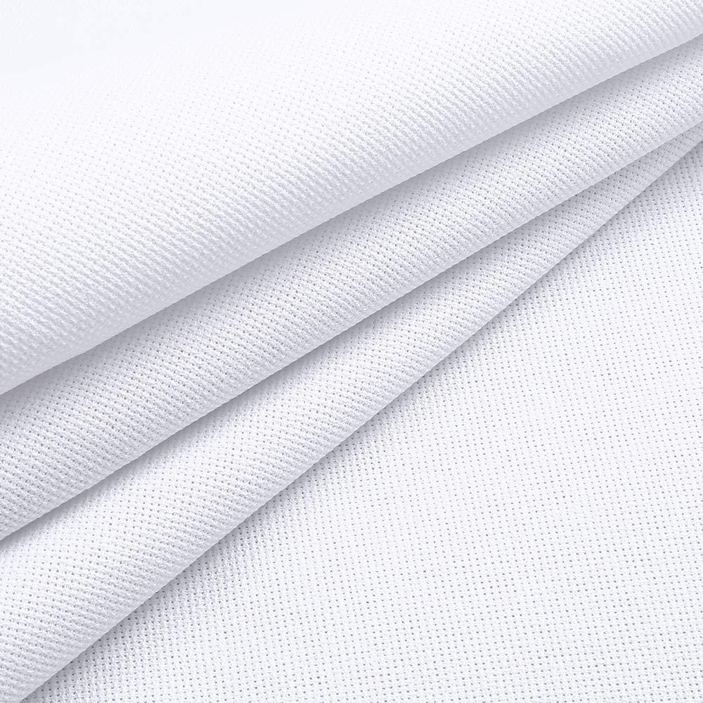 Caydo 59 by 39-Inch 18 Count Classic Reserve Aida Cloth White Cross Stitch Cloth Fabric Big Size
