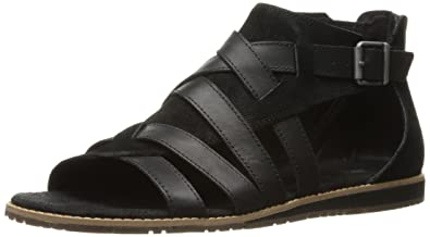 Caterpillar Women's Sunswept Gladiator Inspired Open Toe Sandal, Black, 10  Medium US
