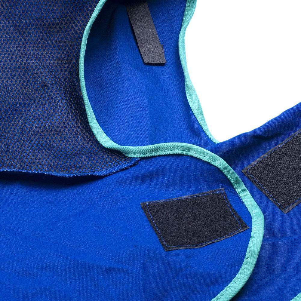 Casco de Soldadura en el Casco de Safey Tapa de Soldador con drapeado en el Cuello Naranja//Azul Tapa de la Improvement Wood.L Antorcha de Soldadura Protectora Completa Retardante de la Llama