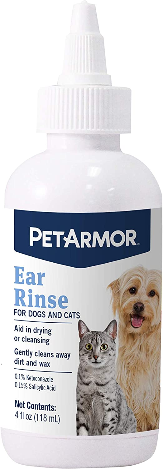 PetArmor Ear Rinse for Dogs & Cats, 4 oz : Pet Supplies
