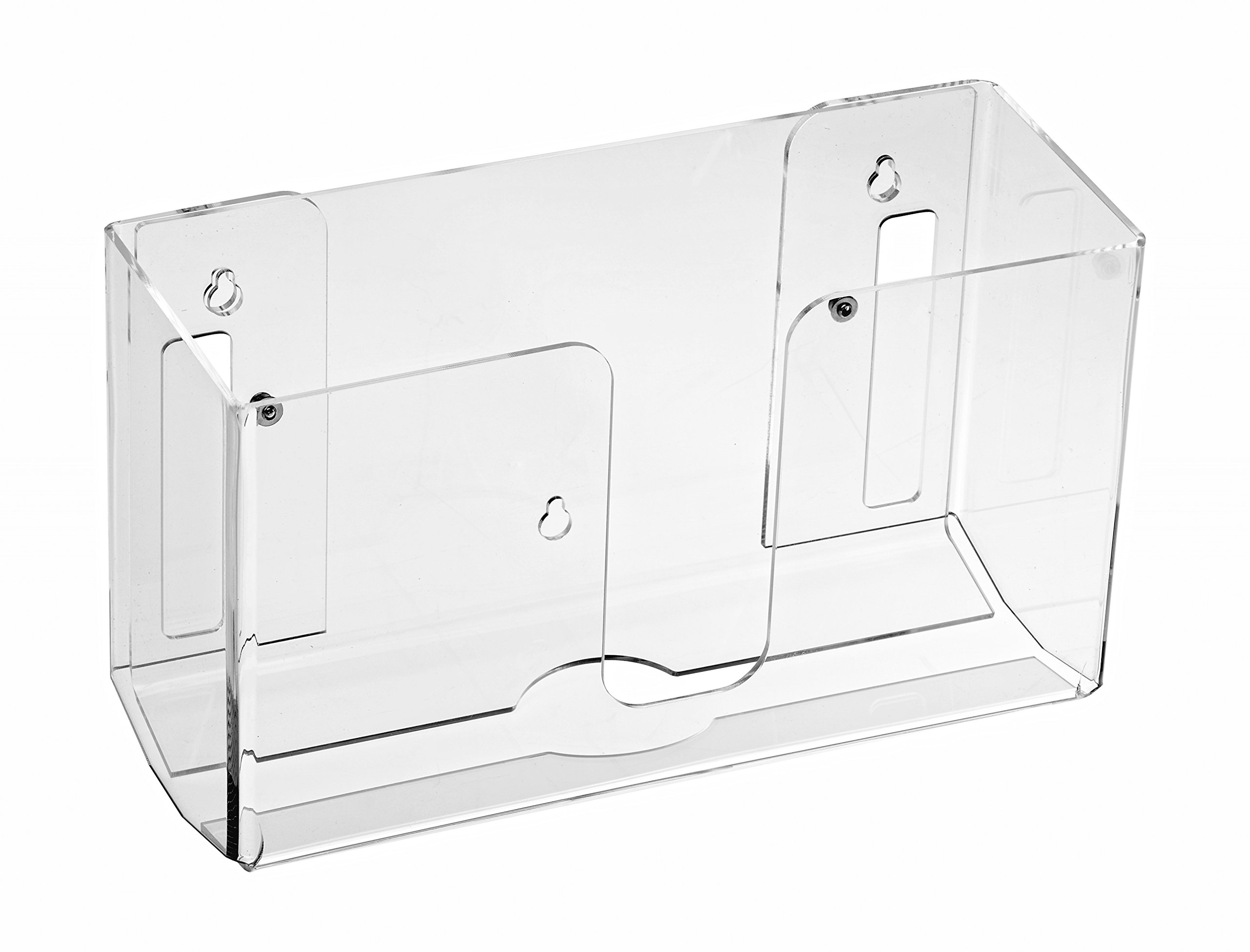 Alpine Industries Acrylic Wall-Mounted Paper Towel Dispenser - Single Or Multiple Towel Retrieval - Bi Fold and C Fold (Clear)