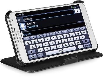 StilGut UltraSlim Case, Funda con Funcion de Soporte para el Original Samsung Galaxy Note 3, Negro Vintage