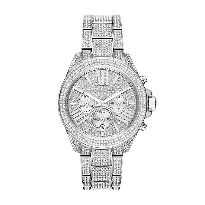 Michael Kors Silvertone Wren Stainless Steel Chronograph Watch by Michael Kors