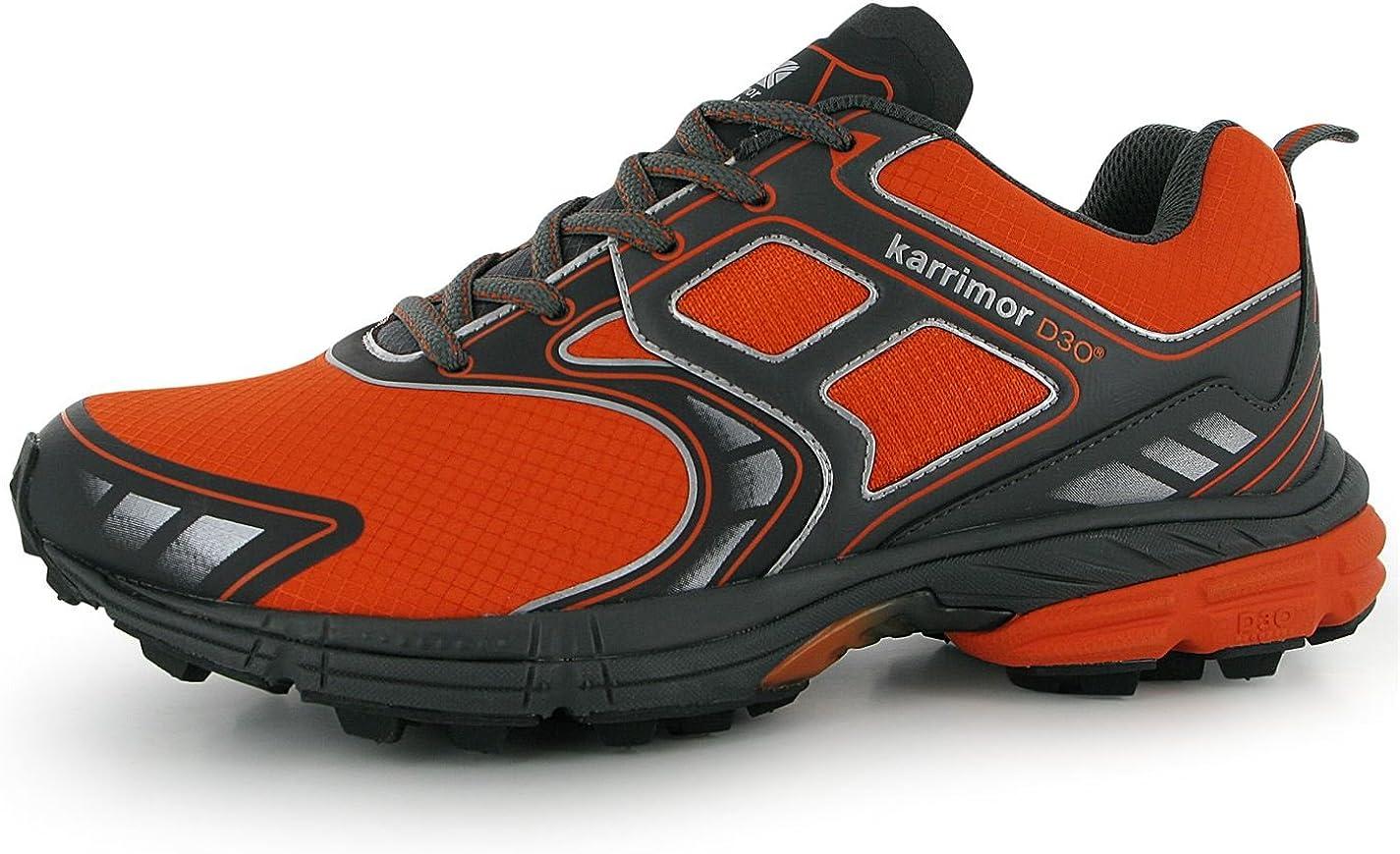 Karrimor - Zapatillas de Running para Hombre Gris Oscuro/Naranja, Color Gris, Talla 45: Amazon.es: Zapatos y complementos