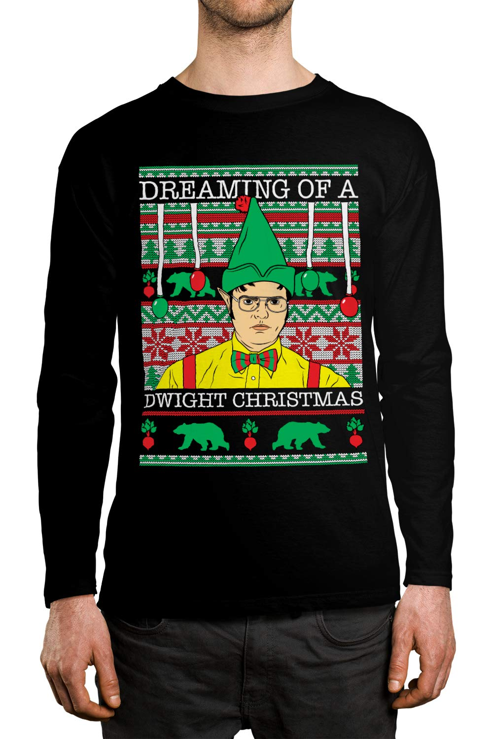 Apparel Dreaming Of A Dwight Christmas Unisex Shirt