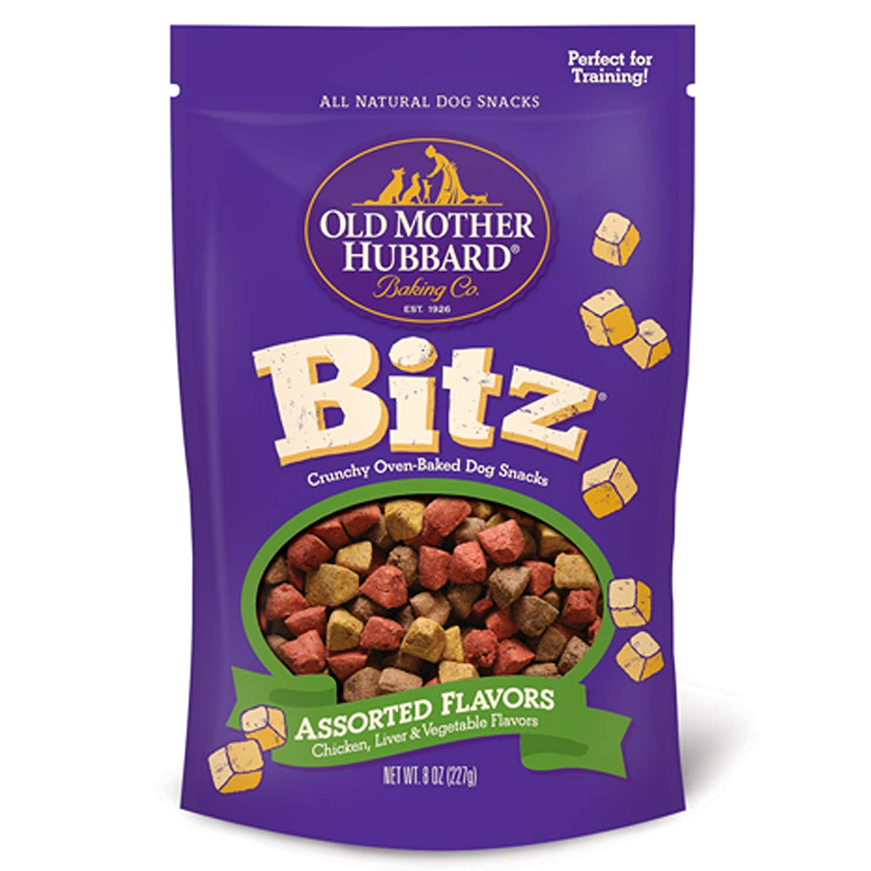 Old Mother Hubbard Bitz Natural Crunchy Dog Training Treats, Chicken, Liver & Veggies