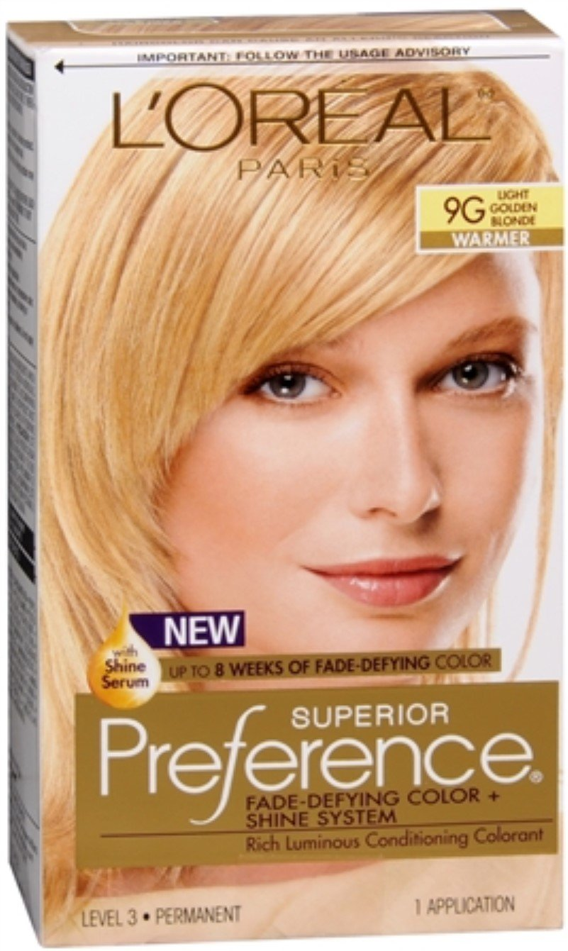 Pref Haircol 9g Size 1ct L'Oreal Preference Hair Color Light Golden Blonde #9g