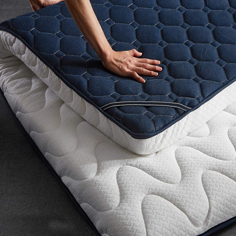 L-WWXXZY Foldable Mattress Pad Topper, Cooling Breathable Tatami Floor Mat Simmons Latex Futon Mattress Pad Soft Memory Cotton Pad-a 120x200cm(47x79inch)