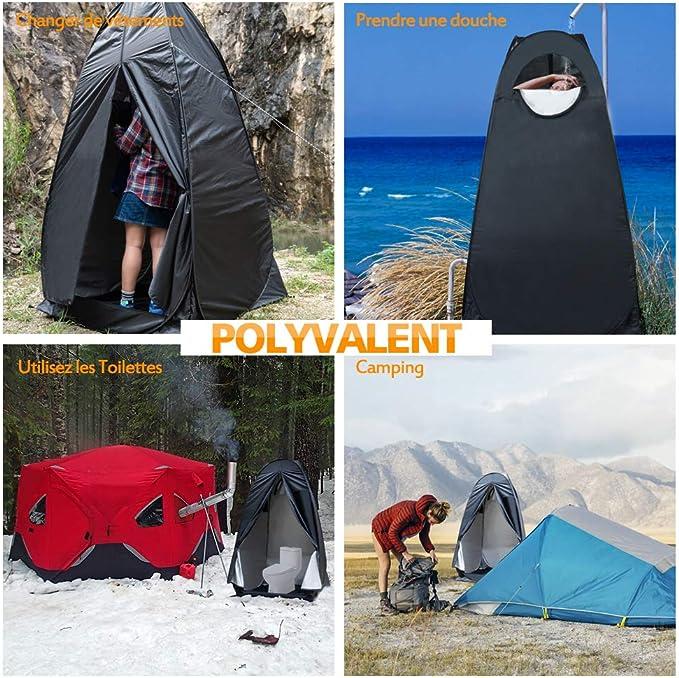 v/élo plage et vestiaire. douche HWLY Pop Up Utilitent ? Tente spacieuse pour camping toilettes