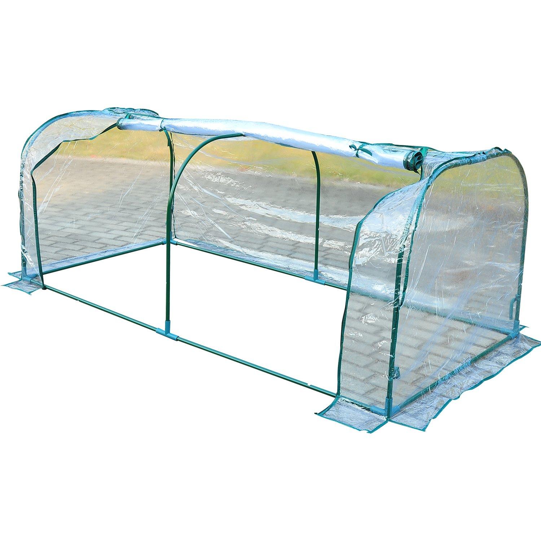 Outsunny Portable Backyard Flower Garden Greenhouse (7 x 3 x 2.6-Feet)