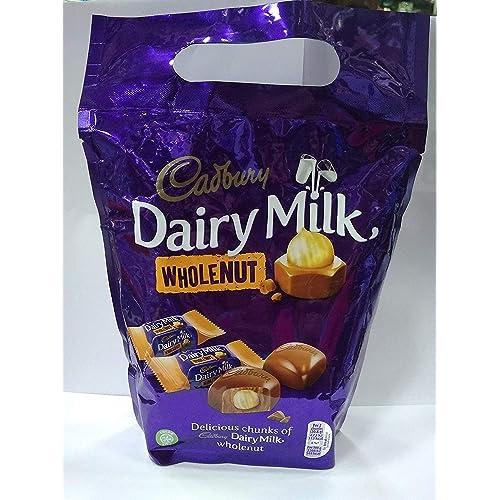 Cadbury Dairy Milk Whole Nut Chocolate Bag 350g