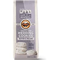 Mexican Wedding Cookies - Made from Scratch with Butter and Pecans, dusted with Powdered Sugar (1 bag, 7oz) - La Monarca Bakery
